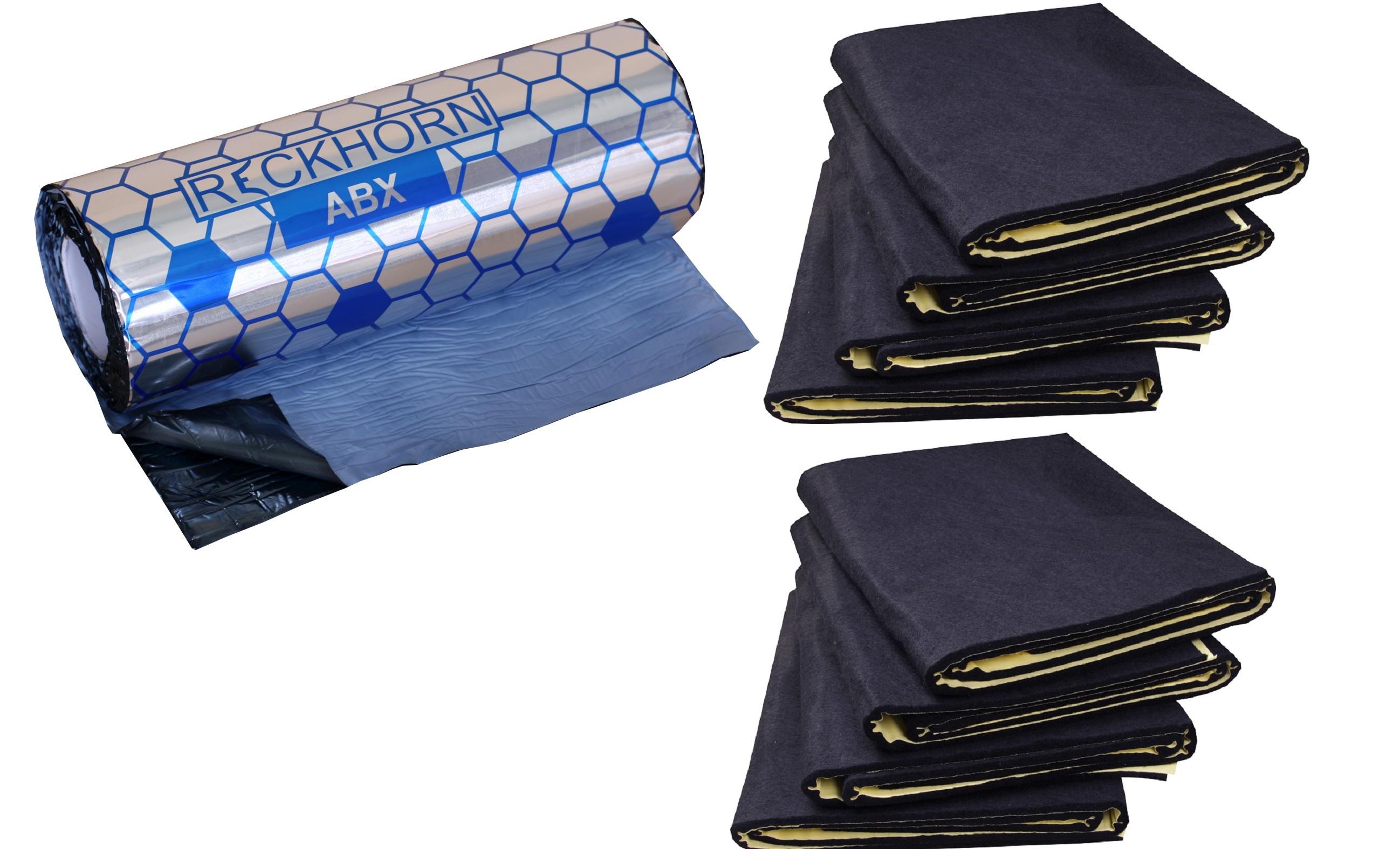 reckhorn 2 x abx 2 mm alubutyl und 1 x neu dv 10i d mmvlies 8 matten. Black Bedroom Furniture Sets. Home Design Ideas